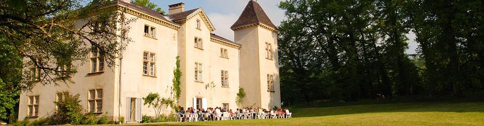 Déjeuner sur la terrasse du château