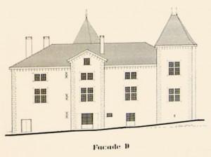 façade est du château